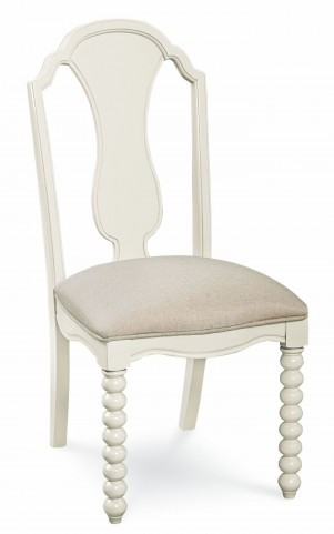 Inspirations Seashell White Upholstered Boutique Chair