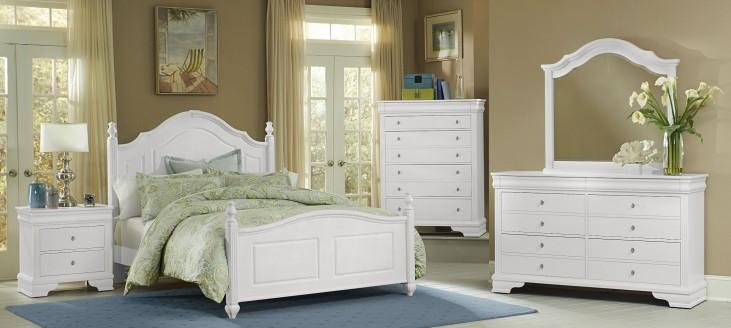 French Market Soft White Poster Bedroom Set