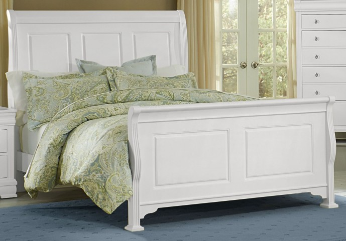 French Market Soft White King Sleigh Bed