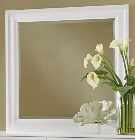 French Market Soft White Landscape Mirror