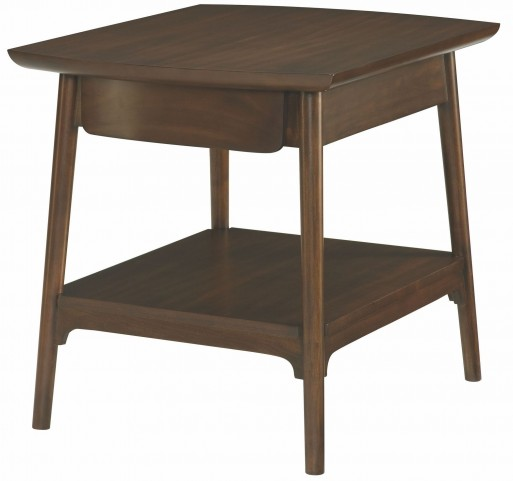 Mila Dark Walnut Rectangular Drawer End Table
