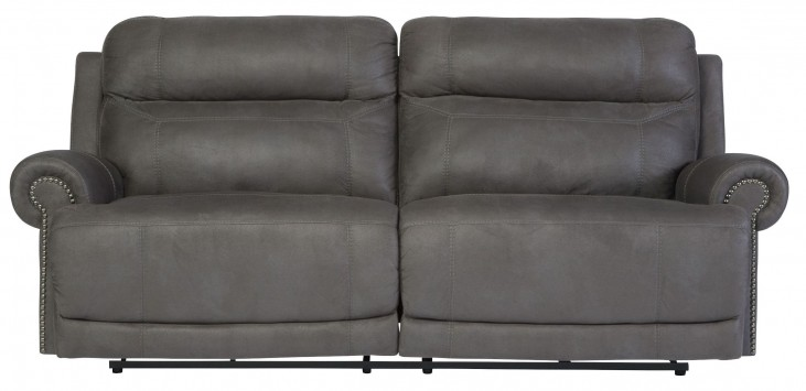 Austere Gray Reclining Sofa