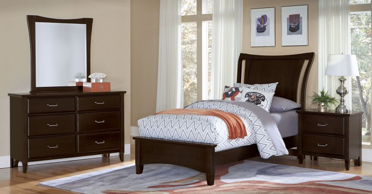 Commentary Merlot Youth Benchback Panel Bedroom Set