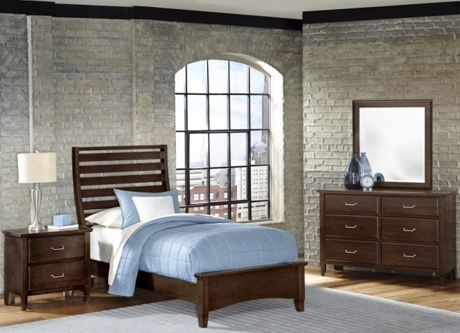 Commentary Cherry Youth Benchback Panel Bedroom Set