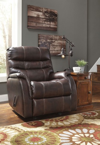 Bridger Brown Power Rocker Recliner