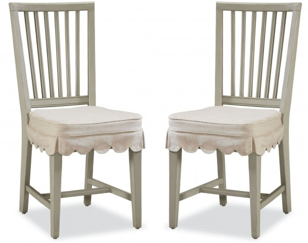 Riverhouse Oyster Shell Kitchen Chair Set of 2