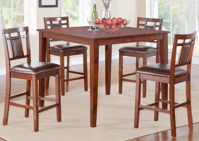Westlake Rich Golden Brown Counter Height 5 Piece Dining Room Set