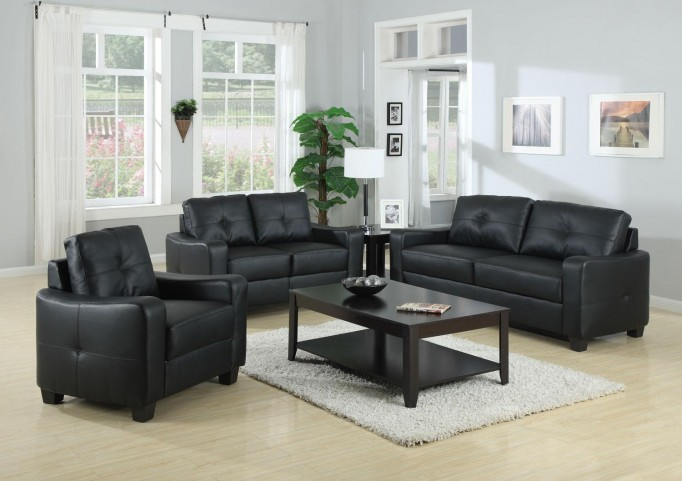 Jasmine Black Living Room Set - 50272
