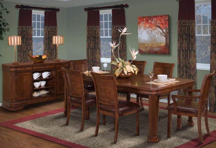 Sheridan Burnished Cherry Rectangular Extendable Dining Room Set