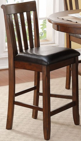 Wilson Burnished Cherry Counter Height Chair Set Of 2