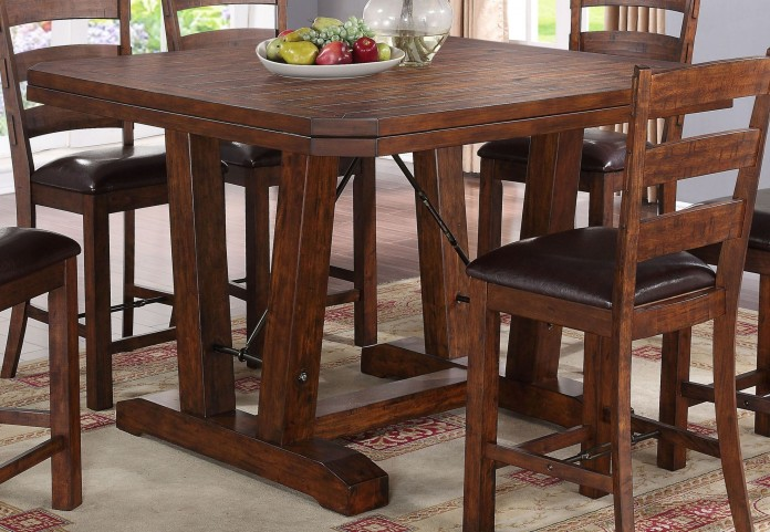 Lanesboro Distressed Walnut Counter Height Table