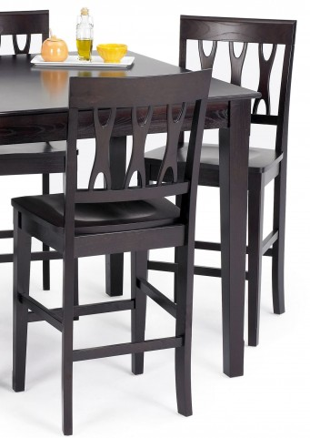 Abbie Espresso Counter Chair Set of 2