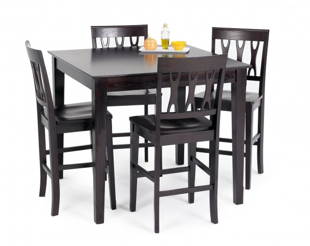 Abbie Espresso Counter Dining Room Set