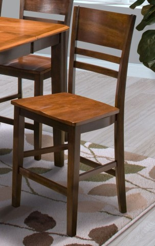 Latitudes Ginger/African Chestnut Horizontal Slat Counter Chair