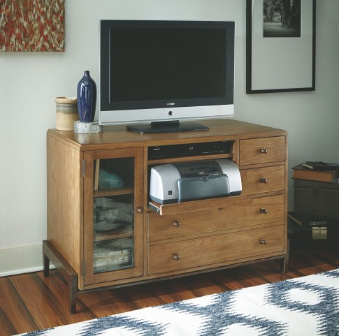 Home Office Rich Mahogany Credenza Desk