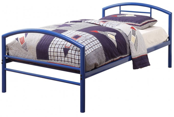 Baines Blue Twin Panel Bed