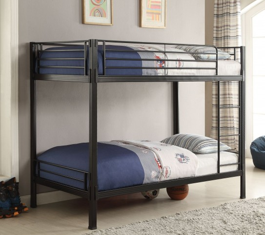 Boltzero Black Twin/Twin Bunk Bed