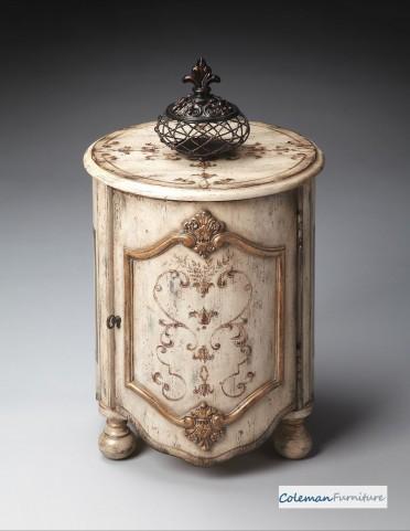 Guilded Cream Drum Table