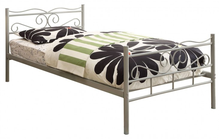 Bailey Cool Grey Twin Panel Bed