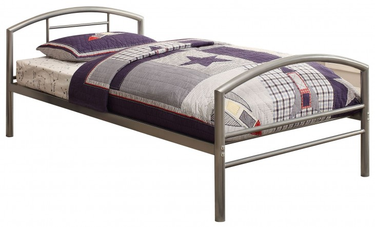 Baines Silver Twin Panel Bed