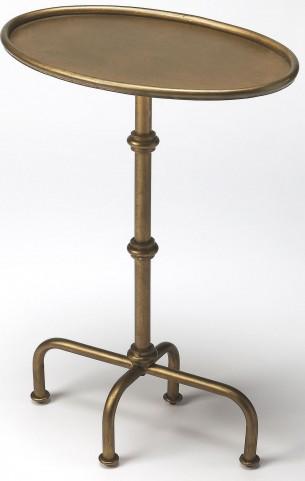 Kira Antique Gold Pedestal Table
