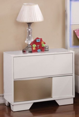 Havering Blanco and Sterling Nightstand