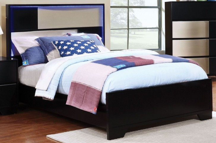 Havering Black and Sterling Twin Platform Bed