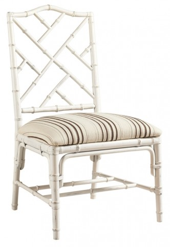 Henry Link Weathered White Ceylon Side Chair