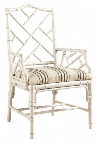 Henry Link Weathered White Ceylon Arm Chair