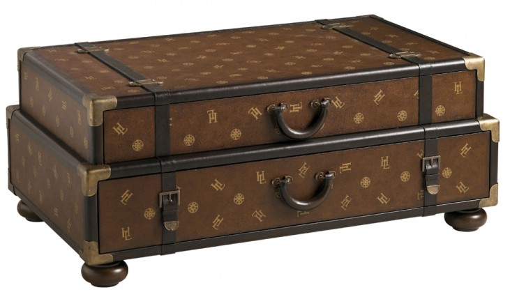 Henry Link Pullman Brown Henry Link Steamer Trunk Cocktail Table