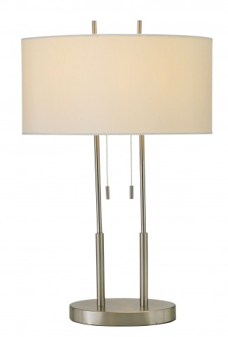 Duet Satin Steel Table Lamp