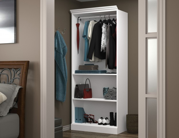 "Versatile White 36"" Closet Storage Shell"