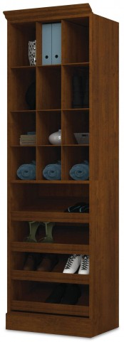 "Versatile Tuscany Brown 25"" Cubby Storage Unit"