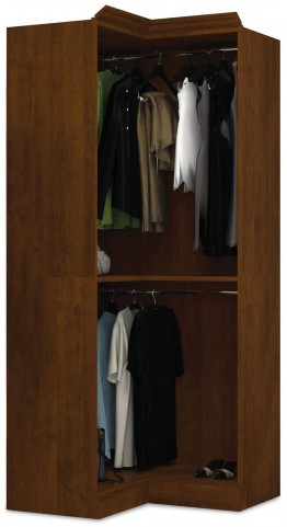 Versatile Tuscany Brown 36'' Corner Open Storage Unit