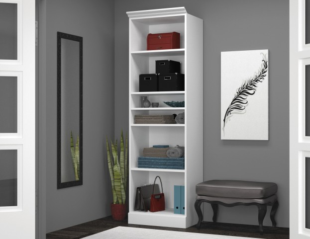"Versatile White 25"" Open Storage Unit"