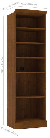 "Versatile Tuscany Brown 25"" Open Storage Unit"