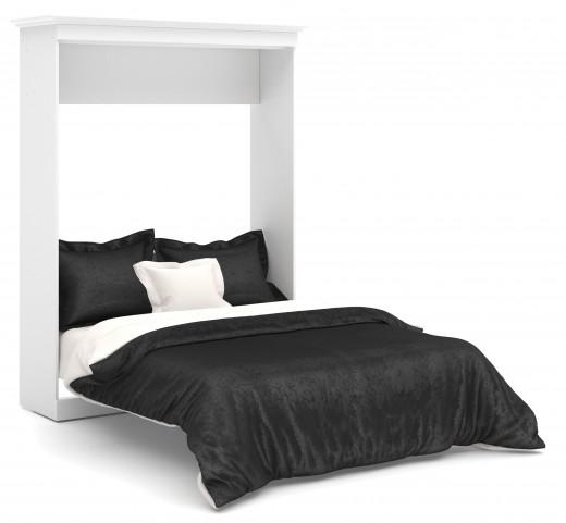 Versatile White 70'' Queen Wall Storage Bed