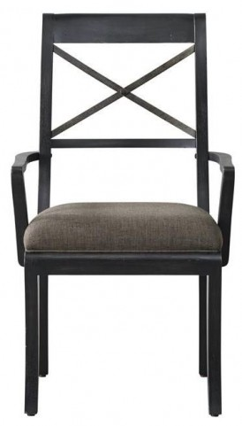 Vintage Tempo Unique Charcoal Arm Chair Set of 2