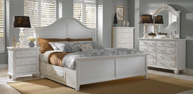 Mirren Harbor Arched Storage Panel Bedroom Set