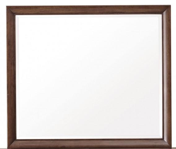 Modern Harmony Burnished Walnut Mirror