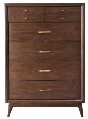 Modern Harmony Burnished Walnut Drawer Chest