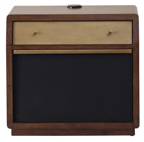 Modern Harmony Burnished Walnut Amp Nightstand