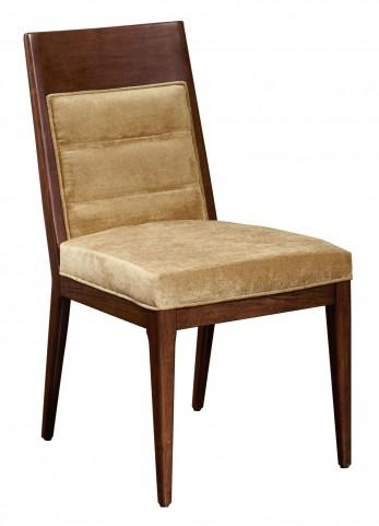 Modern Harmony Burnished Walnut Large Side Chair Set of 2