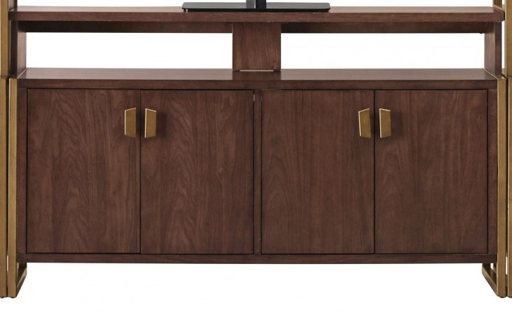 Modern Harmony Burnished Walnut Entertainment Wall Console