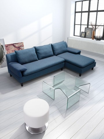 March Clear Glass Coffee Table