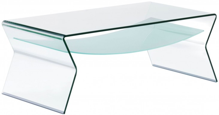 Yoga Clear And Frosted Coffee Table