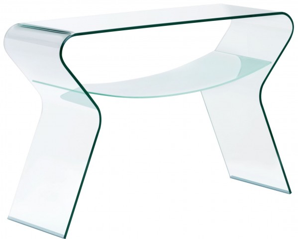 Yoga Clear & Frosted Console Table