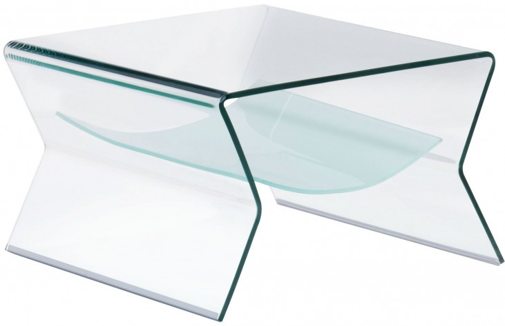Yoga Clear & Frosted Side Table