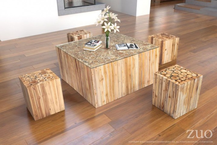 Cave Natural Occasional Table Set