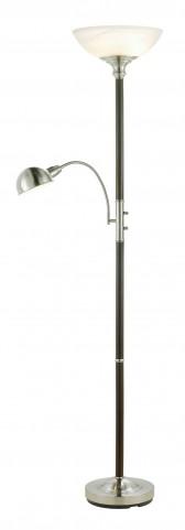 Lexington Walnut Combo Tall Floor Lamp